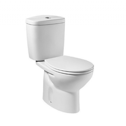 Roca Laura Close Coupled Toilet With Lever Cistern - Soft Close Seat - White